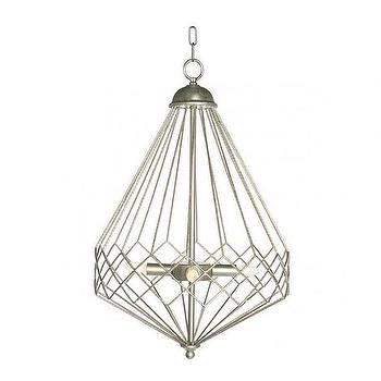 Lighting - Chan Geo Collection Look No.9 Chandelier I Burke Decor - silver diamond chandelier, silver geometric chandelier, modern geometric silver chandelier, geometric diamond chandelier,
