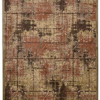 Rugs - Bel Air Collection Montecito Area Rug in Brown I Burke Decor - distressed brown and rust rug, distressed plaid rug, distressed earth toned rug, modern earth toned rug,