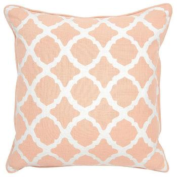 Pillows - Claire Blush Pillow design by Villa Home I Burke Decor - blush pink geometric pillow, pink and white moorish pillow, pink moroccan pillow,