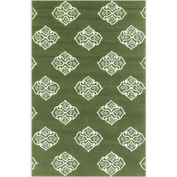 Rugs - Storm Forest, Ivory, & Slate Rug design by Surya I Burke Decor - forest green rug, forest green and ivory rug, forest green medallion rug,