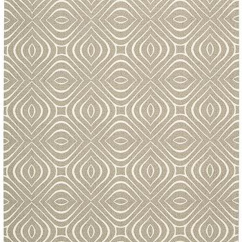 Rugs - Enhance Collection Rug in Taupe design by Nourison I Burke Decor - taupe and ivory geometric rug, taupe and ivory patterned rug, taupe and ivory graphic rug,