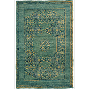 Rugs - Haven Forest & Teal Rug design by Surya I Burke Decor - traditional teal rug, teal and gold area rug, teal indian rug,