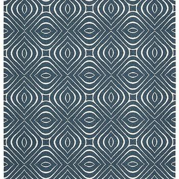 Rugs - Enhance Collection Rug in Cadet Blue design by Nourison I Burke Decor - navy and white geometric rug, graphic print navy rug, modern navy and white rug,