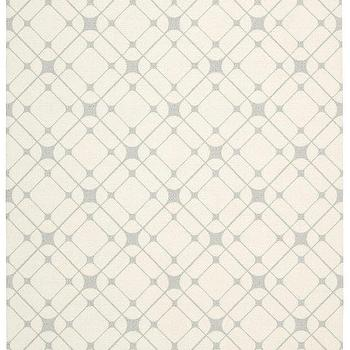 Rugs - Enhance Collection Rug in Ivory & Grey design by Nourison I Burke Decor - gray and ivory geometric rug, gray and ivory graphic rug, gray and ivory grid pattern rug,