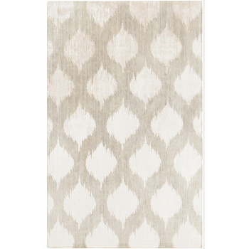 Rugs - Mugal Grey Rug design by Surya I Burke Decor - gray ikat dot rug, gray and ivory ikat dot rug, ikat dot rug,