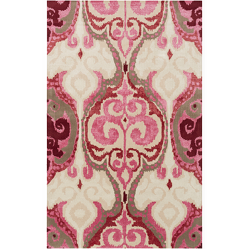 Banshee Beige & Pink Rug design by Surya I Burke Decor