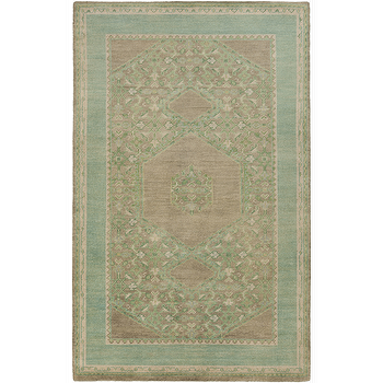 Rugs - Haven Beige, Olive, & Sea Foam Rug design by Surya I Burke Decor - olive green and blue rug, olive green and seafoam rug, traditional blue and taupe rug,