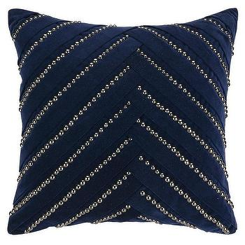 Pillows - Pleat Pillow in Various Colors design by Nanette Lepore I Burke Decor - black and silver pillow, black and silver beaded pillow, black pillow with silver beading,