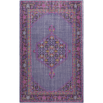 Rugs - Zahra Magenta & Slate Rug design by Surya I Burke Decor - magenta and purple rug, pink and purple traditional rug, pink and purple indian rug,