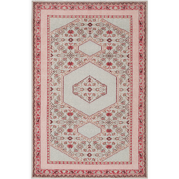 Rugs - Zahra Salmon & Taupe Rug design by Surya I Burke Decor - pink and taupe rug, salmon pink and taupe rug, traditional pink and taupe rug, indian pink and taupe rug,