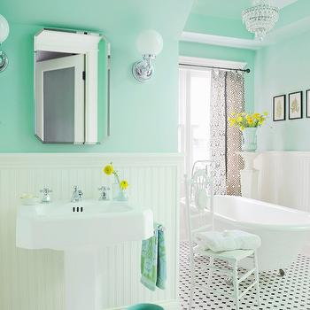 Mint Green Paint Colors, Vintage, bathroom, Benjamin Moore Spirit in the Sky, Anna Forkum