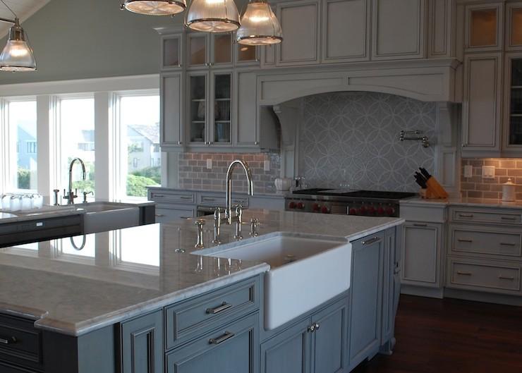carrera marble countertop transitional kitchen restoration hardware drawer pulls cabinet door knobs