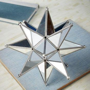 Decor/Accessories - Mirrored Star | West Elm - mirrored star, mirrored star decor, faceted star decor, star tabletop decor,