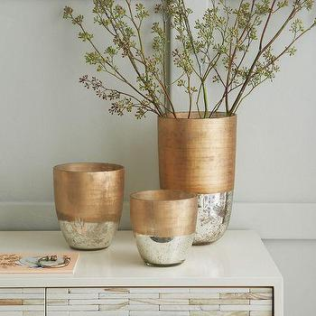 Decor/Accessories - Textured Mercury Vases | West Elm - copper vase, copper and mercury vase, silver and copper vase,