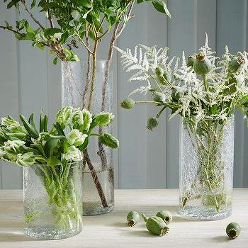 Clear Crackle Vases, West Elm