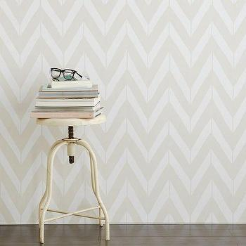 Wallpaper - Chasing Paper Wall Panels - Chevron | West Elm - gray chevron wallpaper, removable chevron wallpaper, removable wallpaper panels, gray and white chevron wallpaper,
