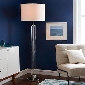 Acrylic Column Floor Lamp I West Elm