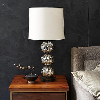 Lighting - Abacus Table Lamp - Round Fluted I West Elm - stacked silver sphere lamp, stacked silver globe lamp, fluted silver sphere lamp,
