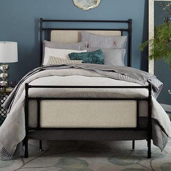 Rhodes Upholstered Metal Bed I West Elm