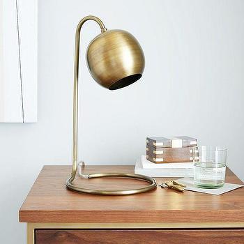 Lighting - Scoop Table Lamp | West Elm - modern brass table lamp, retro brass table lamp, vintage brass table lamp,