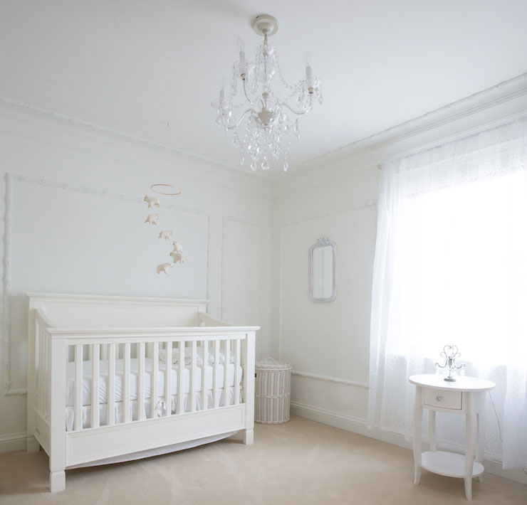 All White Nursery Transitional Nursery Flax Design