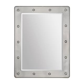 Mirrors - Prisca Mirror | Overstock.com - rivet mirror, industrial nickel mirror, satin nickel mirror,