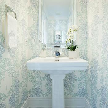 Art Deco Vanity Mirror, Transitional, bathroom, Flax Design
