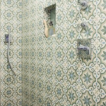 Moroccan Shower Tiles, Mediterranean, bathroom, OXA Architecture