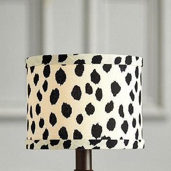 Lighting - Dodie Drum Chandelier Shade I Ballard Designs - spotted drum chandelier shade, black and white chandelier shade, dalmation print chandelier shade,