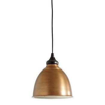 Lighting - Small Industrial Copper Shade I Ballard Designs - copper pendant lamp, copper pendant lamp, copper shade pendant,