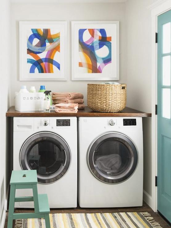 Countertop Above Washer And Dryer : Countertop Above Washer Dryer - Transitional - laundry room - HGTV