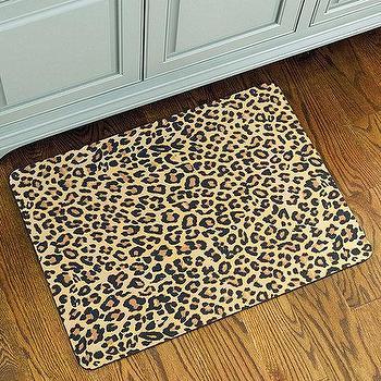 Rugs - Leopard Print Comfort Mat | Ballard Designs - leopard print mat, leopard print rug, leopard print kitchen mat,