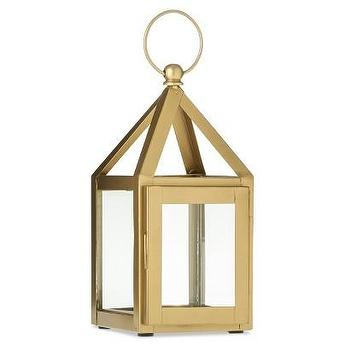 "Decor/Accessories - Small Gold Lantern 4.3x9"" I Target - mini gold lantern, small gold lantern, metallic gold lantern, mini gold votive lantern, gold tealight lantern,"