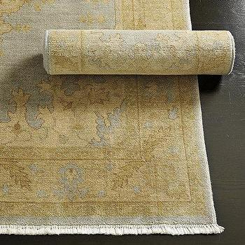 Rugs - Fairley Rug | Ballard Designs - oushak rug, cream and blue oushak rug, traditional cream and blue rug,