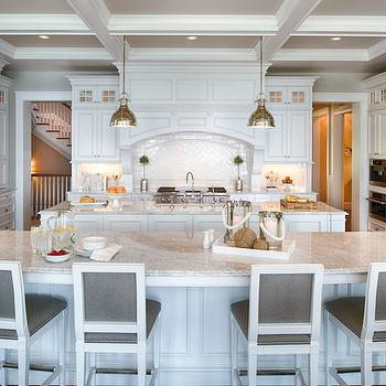 Gray French Counter Stools, Transitional, kitchen, Studio M Interiors