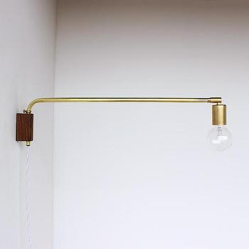 Lighting - Brass swing lamp - brass wall light, brass wall sconce