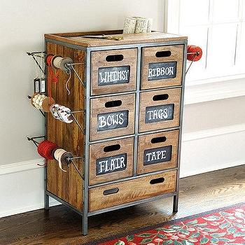 Storage Furniture - Cambridge Wrapping Cabinet I Ballard Designs - wrapping station cabinet, wrapping paper cabinet, wrapping cabinet, industrial wrapping cabinet,
