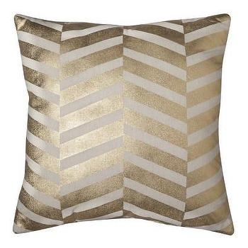 Pillows - Threshold Gold Chevron Pillow I Target - gold chevron pillow, metallic gold pillow, geometric gold pillow,