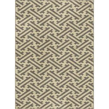 Rugs - Threshold Stockholm Fleece Rug - Gray I Target - gray and beige geometric rug, gray and taupe geometric rug, gray and beige weave print rug, weave pattern rug,