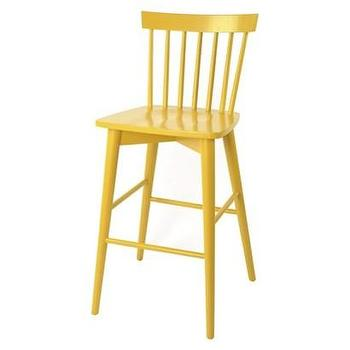 Seating - Threshold Windsor Barstool I Target - yellow barstool, yellow windsor barstool, bright yellow barstool, yellow wooden barstool,