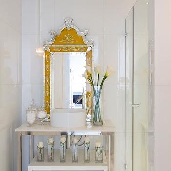 Yellow Vanity Mirror, Contemporary, bathroom, Philippe Starck