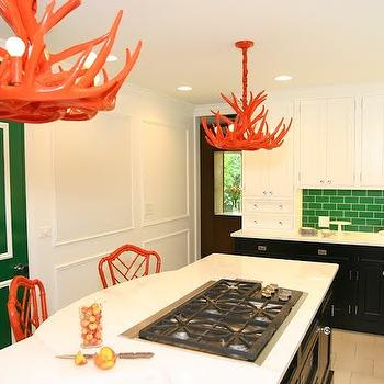 Orange Chandeliers, Contemporary, kitchen, Civility Design
