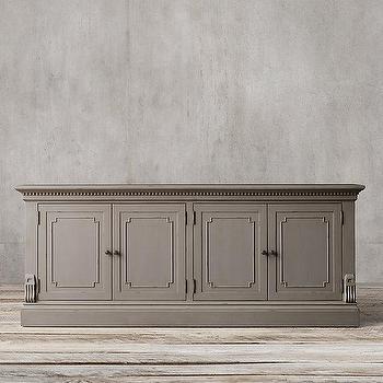 Storage Furniture - St. James Wood Sideboard I Restoration Hardware - gray sideboard, traditional gray sideboard, traditional gray sideboard cabinet,