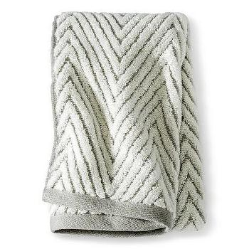 Bath - Threshold Chevron Textured Towel I Target - chevron towel, gray chevron towel, textured chevron towel,