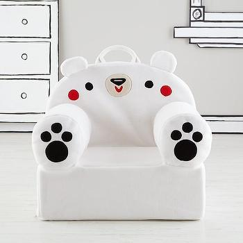 Executive Fuzzy Pet Nod Chair (Polar Bear) I Land of Nod