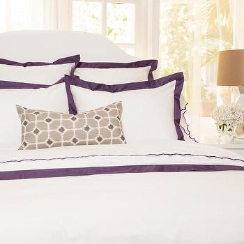 Purple Duvet Cover, The Linden Purple Duvet, Crane & Canopy