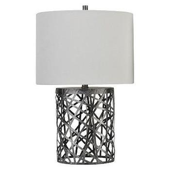 Lighting - Threshold Woven Wire Table Lamp with Oval Shade I Target - woven wire table lamp, woven metal table lamp, industrial wire table lamp,