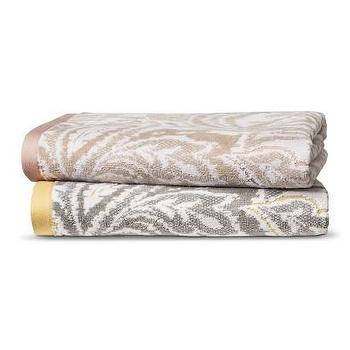 Bath - Threshold Textured Paisley Towels I Target - paisley towels, gray and yellow paisley towel, tan and pink paisley towel, paisley bath towels,