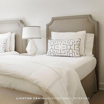 Taupe Headboards, Transitional, bedroom, Lichten Craig Architects