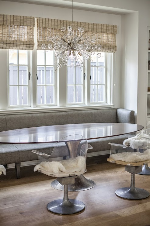 Bubbles Glass Chandelier Contemporary Dining Room